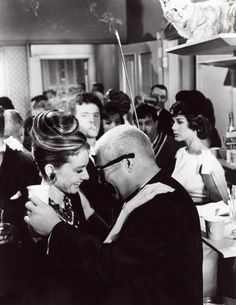 Audrey Hepburn in Breakfast at Tiffany's...