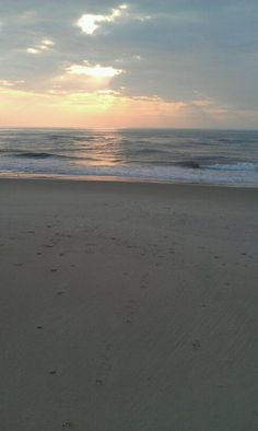Early morning Sunrise in Rodanthe, NC  I would love to be there permanently!