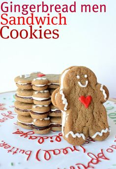 Gingerbread Men Sandwich Cookies