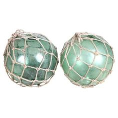 Check out this item at One Kings Lane! 1920s Fishing Net Floats, Pair
