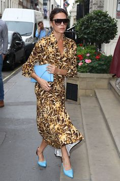 On Victoria Beckham: Victoria Beckham dress and sunglasses. It's been quite the week for Victoria Beckham, who celebrated the anniversary of her eponymous line with a stunning runway show and afterparty.