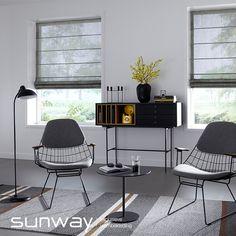 Niets brengt zoveel sfeer in uw interieur als een mooi vouwgordijn, goed gemaakt van een mooie stof. SUNWAY is van oudsher dé specialist op het gebied van vouwgordijnen. Onze creativiteit en technische expertise staan garant voor een brede collectie met het perfecte vouwgordijn voor ieder interieur. Roman Blinds, Outdoor Furniture Sets, Outdoor Decor, Loft, Ramen, Office Desk, Windows, Kitchen, Design
