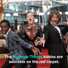 Things videos The Cutest Red Carpet Moments From the 'Stranger Things' Kids It's official. These kiddos are as cute as they come. Stranger Things Videos, Stranger Things Actors, Bobby Brown Stranger Things, Watch Stranger Things, Stranger Things Have Happened, Stranger Things Aesthetic, Stranger Things Netflix, Stranger Things Season, Funny Vid
