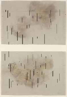 John Cage, Global Village 37-48 (Diptych), 1989, Aquatint on brown smoked paper