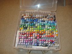 I have been looking for the ideal Copic Marker storage for awhile. I would like one that keeps the markers in color order, has a cover for t...
