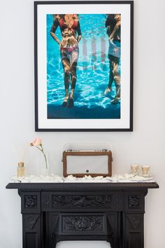 Laura Butler-Madden, Marble, Fired Earth, Arabascato Marble, Marble Tiles, Shower, Freestanding Bath, Wardrobe, Mirrored Wardrobe, Console Basin, Slim Aarons, Chandelier, White Company, Vogue Print,