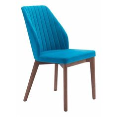 Blue Raspberry Velvet Slim Wing Back Dining Chair