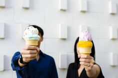 sweet ice cream engagement session. Photo by Laurel McConnell Photography.