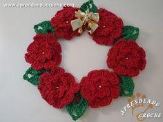 Guirlanda de Croche Natal Floral - Aprendendo Crochê