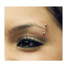 Piercing Your Eyebrows ❤ liked on Polyvore featuring piercings, jewelry and tattoos and piercings