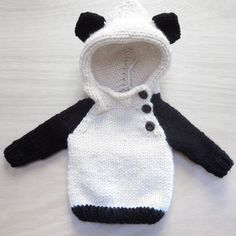 panda sweater by Camp & Company Knittery
