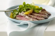 How to Make Seared Black Pepper-Crusted Ahi Tuna Steaks Seared Ahi Tuna – Carin Krasner/Taxi/Getty Images Ahi Tuna Steak Recipe, Tuna Steak Recipes, Tuna Steaks, Roast Chicken Recipes, Fish Recipes, Seafood Recipes, Dinner Recipes, Cooking Recipes, Seafood Dishes