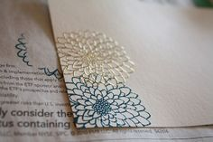 Gold finished stationary paper by foodwinemodpodge, via Flickr