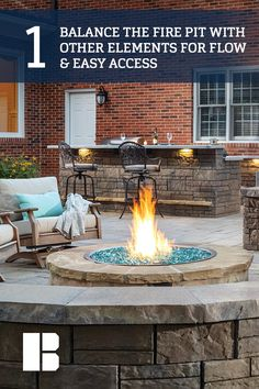 5 Tips for Designing a Patio around a Fire Pit - Outdoor Living by Belgard Fireplaces Uk, Tabletop Fireplaces, Fireplace Dimensions, Outdoor Fireplace Kits, Rustic Kitchen Lighting, Hot Tub Gazebo, Gas Fire Pit Table, Fire Pit Designs, Canopy Outdoor
