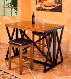Shop for Intercon Siena Breakfast Bar, and other Dining Room Tables at Woodstock Furniture in Acworth and Hiram Georgia. Breakfast bar can be used for seating area or food prep station. Features self storing extension. Home Bar Furniture, Dining Room Furniture, Dining Room Table, A Table, Kitchen Tables, Kitchen Ideas, Siena, Breakfast Bar Table, Backless Bar Stools