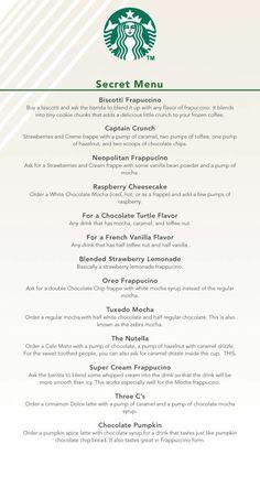 The secret Starbucks menu!!