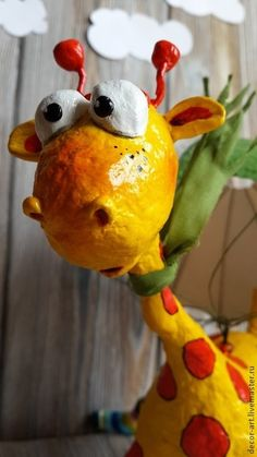 Гарри.Первый прыжок. Игрушки ручной работы. - жёлтый,жираф,игрушка ручной работы
