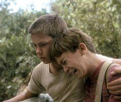 STAND BY ME, River Phoenix, Wil Wheaton, 1986   Essential Film Stars, River Phoenix http://gay-themed-films.com/river-phoenix/
