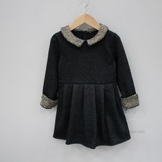 vestido negro. Ideal para el frio