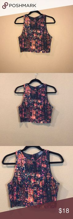 NORDSTROM ASTR Purchased from Nordstrom. Cute dressy top with button closure on back Astr Tops Crop Tops