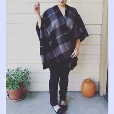 Incredible Grey & Black Plaid Poncho Sooo soft and wonderful! This is a must have! There are no closures, zippers or buttons. Just drape it over your shoulders and you're ready for pumpkin spice lattes and crisp Fall weather   Please do not buy this listing! Comment below  and I'll create a separate listing for you :)   Price is for one  100% Acrylic   ❌No trades, no PayPal, no holds Instagram: @lovelionessie ⚜www.lovelionessie.com⚜ Boutique Sweaters Shrugs & Ponchos