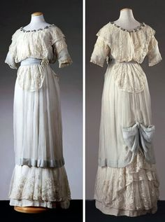 Dress, Mon. Bellon Robes et Manteaux, Nice, ca. 1910. Aquamarine chiffon. Photo: M. Carrieri. De Agostino Picture Library via Alinari