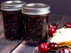 Slow Cooker Cherry Jam - The Midnight Baker Veal Recipes, Slow Cooker Recipes, Crockpot Recipes, Yummy Recipes, Dessert Recipes, Dinner Recipes, Slow Cooking, Cherry Recipes Healthy, Grape Jam