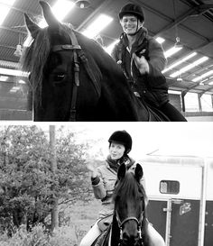 [GIFSET] Sam and Cait in their horse training sessions #Outlander