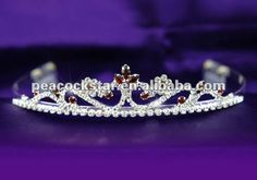 Bridal Wedding Party Quality Dark Red Crystal Rhinestone Tiara Comb CT1199 US $10.50