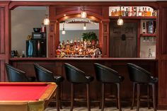 We took this customer's vision of their own custom bar and turned it into a reality. Now they have the perfect place for game day! Custom Home Bars, Custom Homes, Built In Wine Rack, Bourbon Bar, Cambria Quartz, Wet Bars, Bar Areas, Quartz Countertops, Kitchen Layout