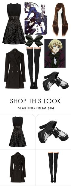 """""""black butler oc outfit"""" by ninjas-rule ❤ liked on Polyvore featuring Victoria, Victoria Beckham, Burberry and Tamara Mellon"""