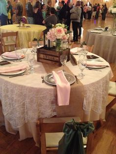 Amber Springs Montgomery Tx I Want This Exact Table Set Up Champagne With Ivory Lace Overlay And Blush Napkins