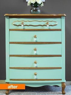 Before & After: A Minty Fresh Dresser Refresh