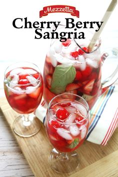 This Mezzetta Cherry Berry Sangria will keep you cool on a warm Spring day. Learn what you need to make this easy and refreshing cocktail for your next garden party.