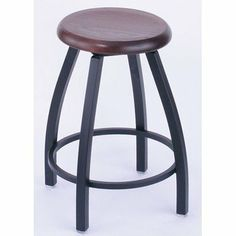 """25"""" Backless Counter Stool with Wood Seat Frame Finish: Black Wrinkle, Seat Finish: Dark Cherry by Holland Bar Stool. $99.99. 25080-Black Wrinkle-Dark Cherry Frame Finish: Black Wrinkle, Seat Finish: Dark Cherry Features: -Wood seat.-Commercial grade quality.-Made in the USA.-25'' seat height. Construction: -Solid weld frame construction. Color/Finish: -Epoxy baked powder coat finish. Dimensions: -Overall Dimensions: 25'' H x 18'' W x 18'' D. Warranty: -360 deg..."""
