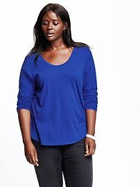 Women's Plus Relaxed-Fit Scoop-Neck Tee