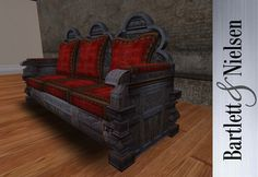 Medieval and Gothic Home Furniture | Gothic carved sofa - medieval, renaissance furniture