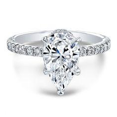 Classic White Gold Pear Diamond Engagement Ring from The One Collection™ Pear Diamond Engagement Ring, Pear Diamond Rings, Best Engagement Rings, Wedding Day, Wedding Rings, 2 Carat, White Gold, Classic White, Glitters