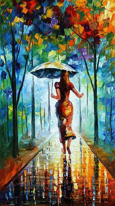 RUNNING TOWARDS LOVE BY LEONID AFREMOV I LOVE LOVE LOVE THIS ONE