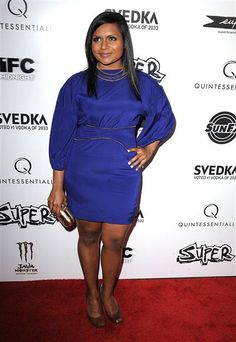 Mindy Kaling great dress great color.