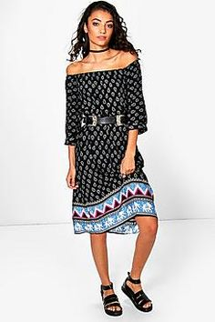Tall Sophia Paisley Printed Midi Dress