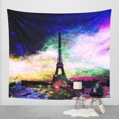 Eiffel tower tapestry/Eiffel tower wall by haroulitasDesign