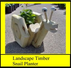Landscape Timber Snail Planter