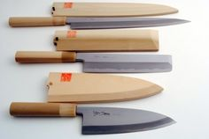 "YOSHIHIRO- Japanese Sushi Chef Kasumi Knife 3p Set [Yanagi270/Usuba195/Deba180] . $479.99. Blade Material: Shiroko High-Carbon Steel /Handle Material: Magnolia / Bolster Material: Water Buffalo Horn*Color may varies. Usuba 7.7"" (195mm) [Vegetable Knife]. Deba 7"" (180mm) [Fillet Knife]. Yanagi 10.7"" (270mm) [Sashimi Knife]. HRC (Hardness Rockwell C scale) : 62-63 /Saya cover: Included. Kasumi means mist in Japanese. The border of the blade on a Kasumi has beauti..."