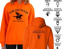 Camp Half Blood Hoodie Percy Jackson Halloween Costume 2 Sided stampa Felpa adulto gioventù taglie S-3XL