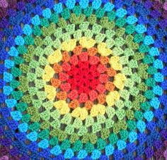Revisiting the Granny Mandala…. | Crochet with Raymond