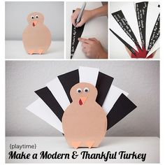 DIY Gratitude Turkey from Modern Parents Messy Kids. Thanksgiving Crafts For Kids, Family Thanksgiving, Fall Crafts, Holiday Crafts, Holiday Fun, Holiday Parties, Kids Crafts, Turkey Craft, Turkey Project