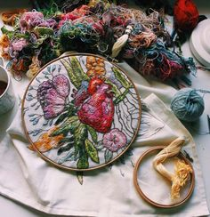 Lisa Smirnova's Impressionistic Embroideries Of People And Anatomy Ripple With Life