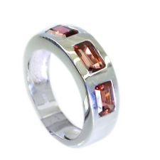 enticing Garnet Silver Red Ring wholesales L-1in US 5678