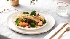 Plnený losos so špenátom Thing 1, Ethnic Recipes, Marcel, Food, Essen, Meals, Yemek, Eten
